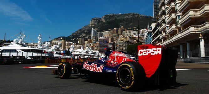 Daniel Ricciardo en los libres de Mónaco 2012