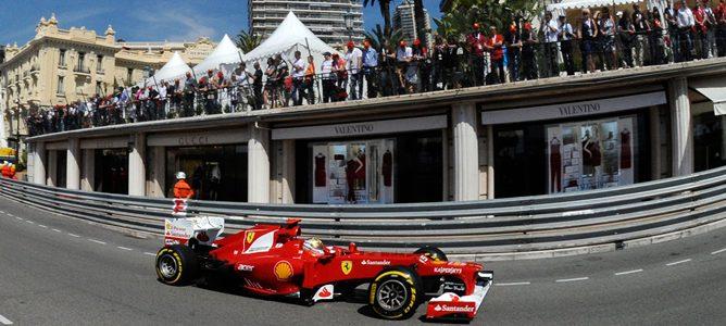 Fernando Alonso en Mónaco 2012