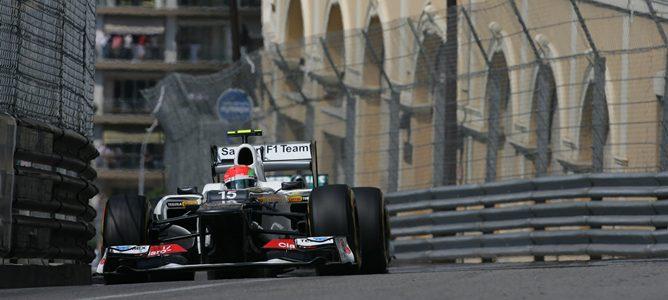 Sergio Pérez en la clasificación de Mónaco