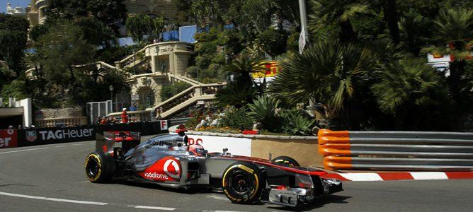 Jenson Button en la clasificación de Mónaco 2012