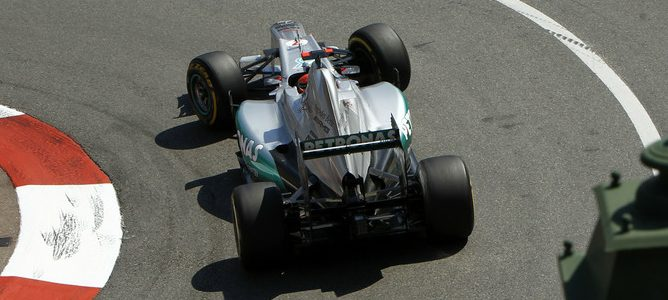 Michael Schumacher en Mónaco 2012