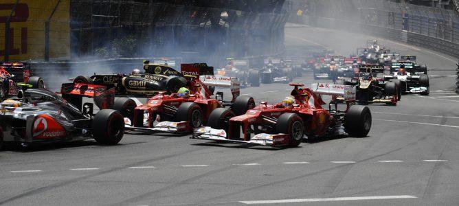 Salida del GP de Mónaco