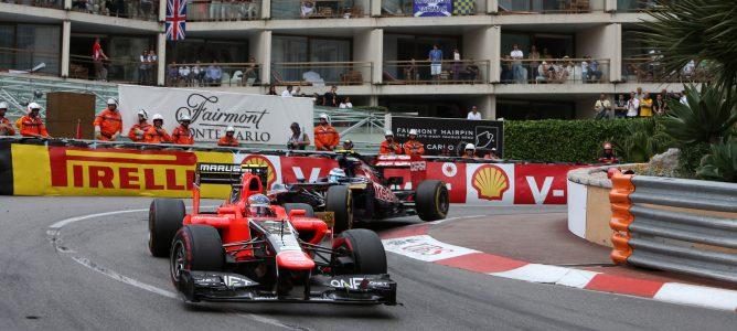 Charles Pic en el GP de Mónaco