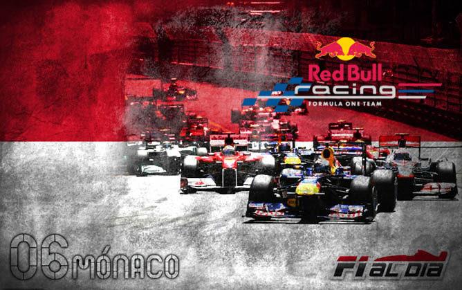 Cartel anunciador del GP de Mónaco 2012