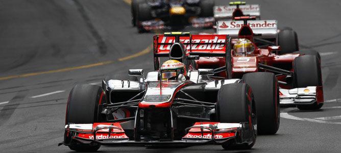 Un McLaren sobre el asfalto de Montecarlo