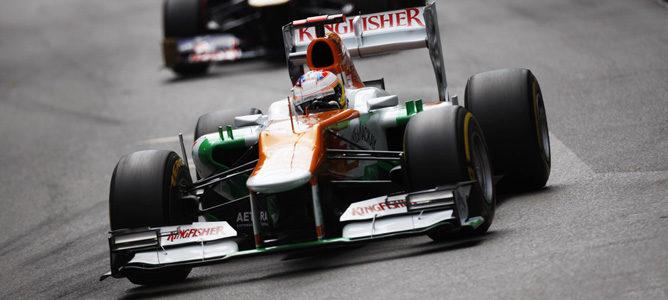 Un Force India sobre el asfalto de Montecarlo
