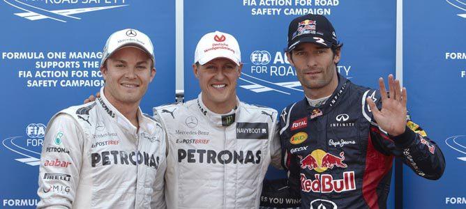 Los tres primeros clasificados en Q3 del GP de Mónaco