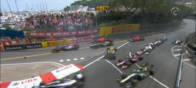 Primera curva del GP de Mónaco