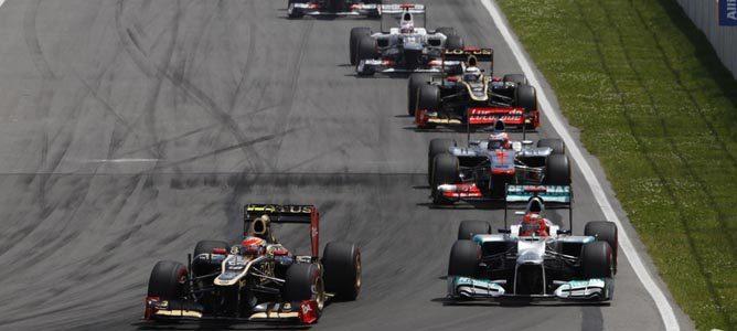 Los dos Lotus en el GP de Canadá