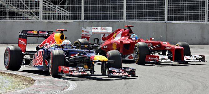 Un Red Bull en el GP de Canadá