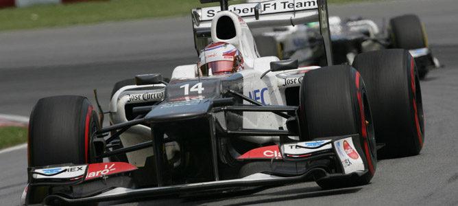 Los dos Sauber en el GP de Canadá
