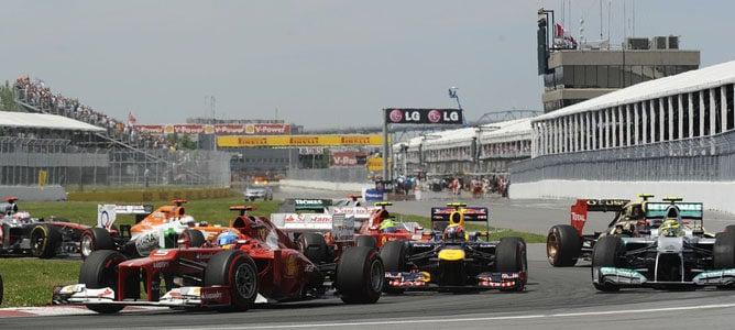 Los dos Ferrari en el GP de Canadá