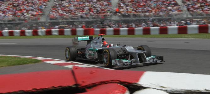 Un Mercedes en el GP de Canadá