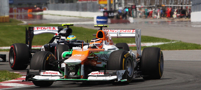 Un Force India en el GP de Canadá