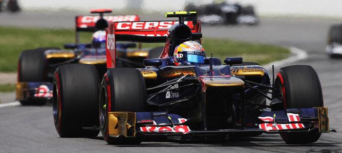 Los dos Toro Rosso en el GP de Canadá