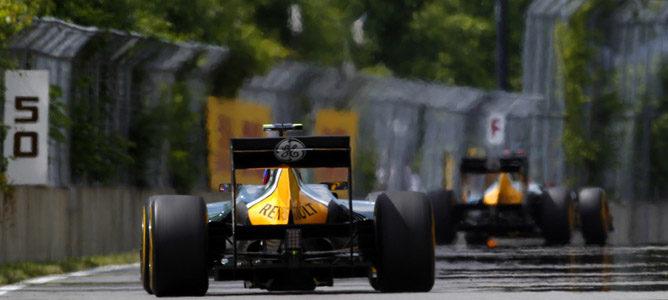 Los dos Caterham en el GP de Canadá