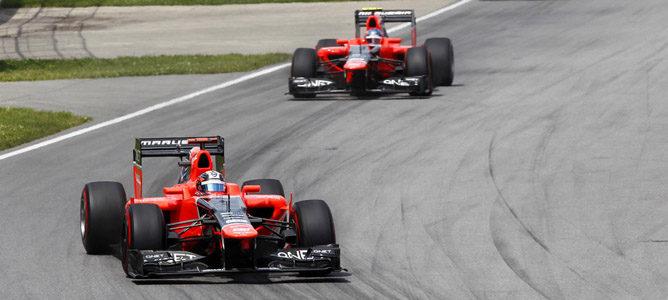 Los dos Marussia en el GP de Canadá