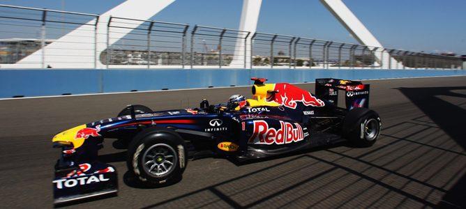 Sebastian Vettel en Valencia 2011