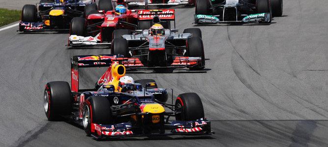 Sebastian Vettel en el circuito urbano de Montreal