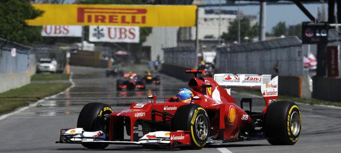 Fernando Alonso en el circuito urbano de Montreal