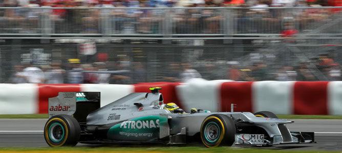 Nico Rosberg en el circuito urbano de Montreal