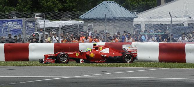 Felipe Massa en el circuito urbano de Montreal