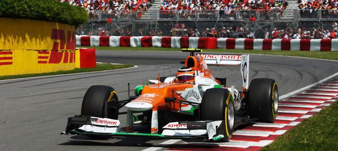 Nico Hulkenberg en el circuito urbano de Montreal