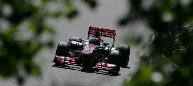 Jenson Button en el circuito urbano de Montreal
