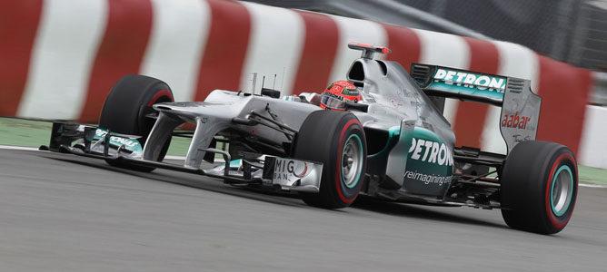Michael Schumacher en el circuito urbano de Montreal