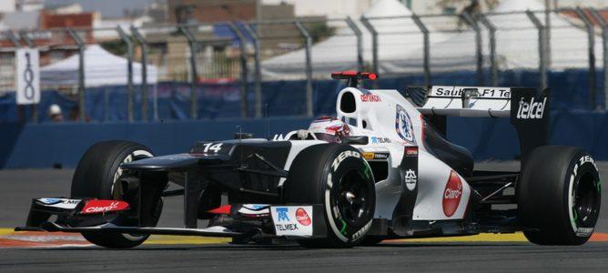 Kamui Kobayashi en el Valencia Street Circuit