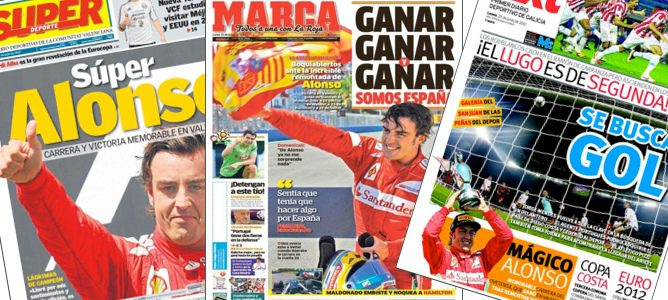 Fernando Alonso en la prensa