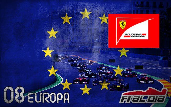 Cartel anunciador del GP de Europa de F1