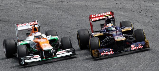 Toro Rosso y Force India en España 2012