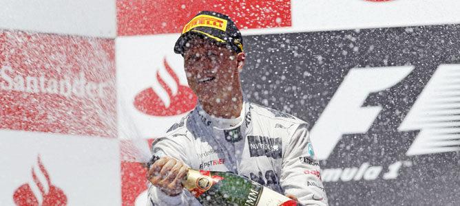 Michael Schumacher en el GP de Europa 2012