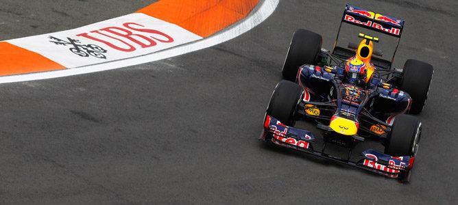 Mark Webber en el GP de Europa 2012