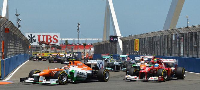 Nico Hulkenberg en el GP de Europa 2012
