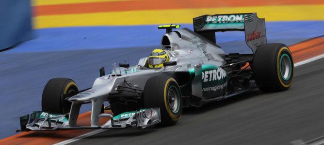 Nico Rosberg en el GP de Europa 2012