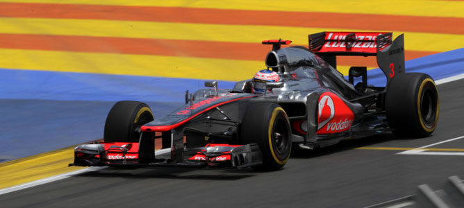 Jenson Button en el GP de Europa 2012