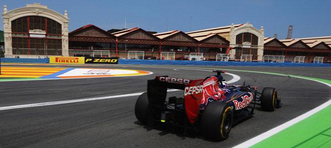 Daniel Ricciardo en el GP de Europa 2012