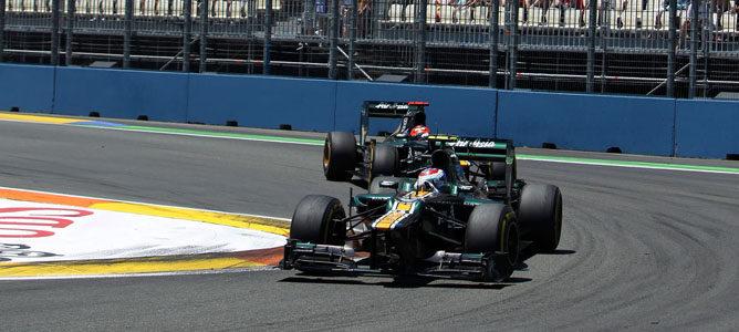 Vitaly Petrov en el GP de Europa 2012