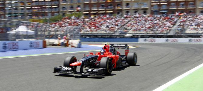 Charles Pic en el GP de Europa 2012