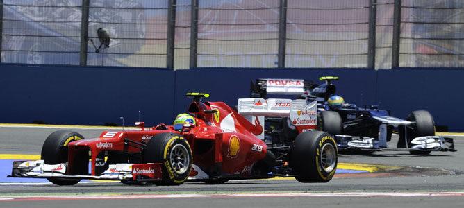 Felipe Massa en el GP de Europa 2012