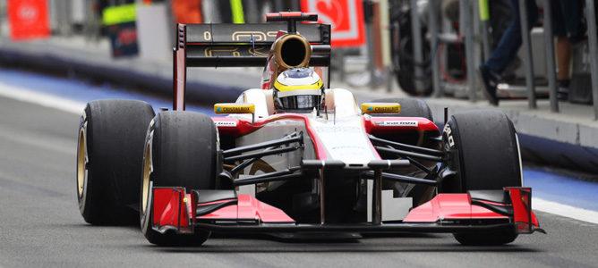 Pedro de la Rosa en el GP de Europa 2012
