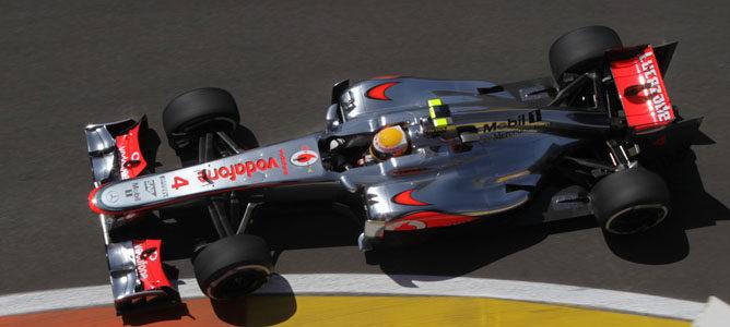 Lewis Hamilton en el GP de Europa 2012