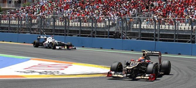Romain Grosjean en el GP de Europa 2012