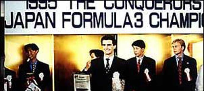 Pedro de la Rosa en sus tiempos de la F3 en Japón