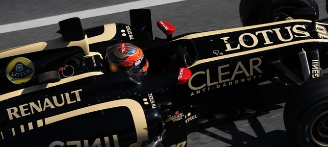 Romain Grosjean con Lotus