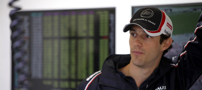 Bruno Senna en el box