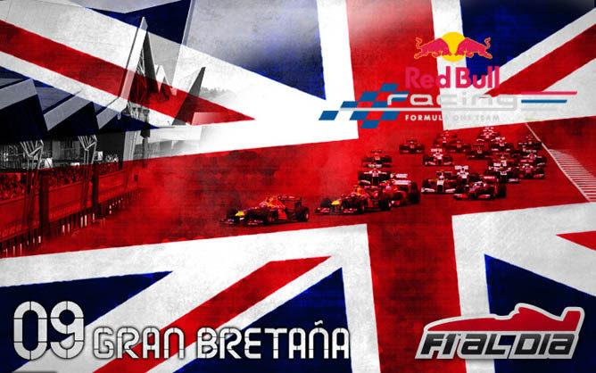 Cartel anunciador del GP de Gran Bretaña