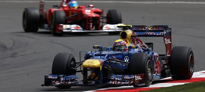 Un Red Bull sobre el asfalto de Silverstone